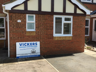 Photo of light brick garage conversion by Vickers